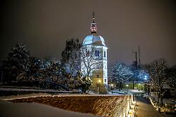 24.02.2018, Schloßberg, Graz, AUT, Graz im Winter, im Bild eine Ansicht des verschneiten Glockenturms 'Liesl' in Graz bei Nacht, EXPA Pictures © 2018, PhotoCredit: EXPA/ Erwin Scheriau