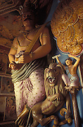 Sculpture. Buddhist temple off the Colombo - Kandy Road.