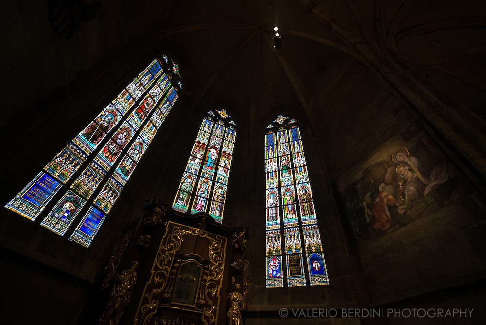 Gothic art and architecture at St. Vitus Cathedral, inside Prague Castle