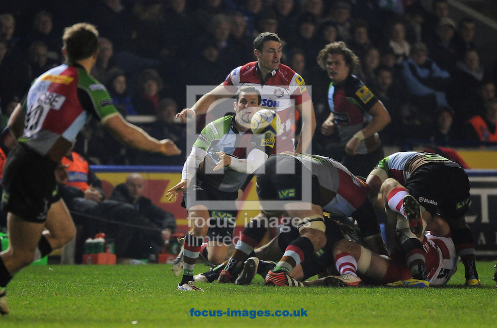 Picture by Seb Daly/Focus Images Ltd +447738 614630.03/11/2012.Karl Dickson of Harlequins during the Aviva Premiership match against Gloucester Rugby at Twickenham Stoop , London.
