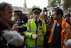 OCT 17 2014 Occupy Democracy Protest outside Parliament square