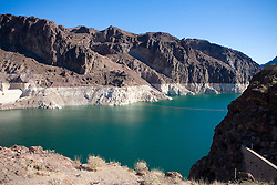 The Colorado River just before it approach the Hoover Dam in Arizona.