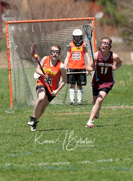 Lakes Region Lacrosse U15 girls versus Concord May 1, 2011.