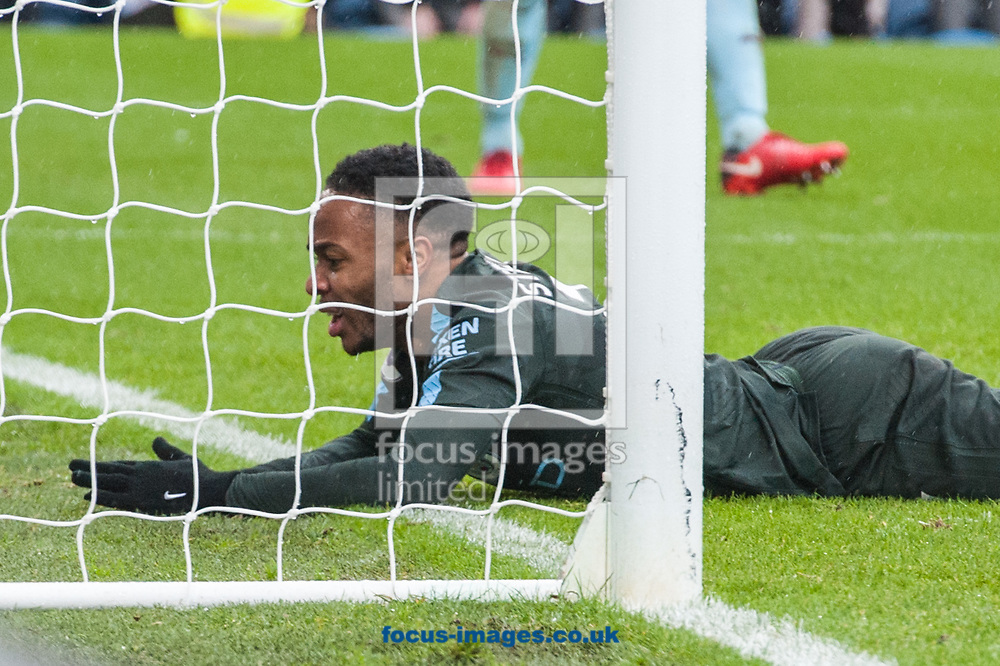 Raheem Sterling of Manchester City after missing a golden opportunity to score during the Premier League match at Turf Moor, Burnley<br /> Picture by Matt Wilkinson/Focus Images Ltd 07814 960751<br /> 03/02/2018