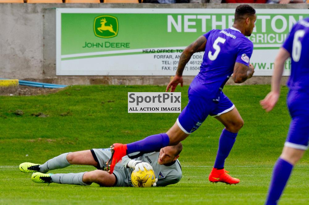 Brechin City v Dunfermline Athletic SPFL League One Season 2015/16 Glebe Park 08 August 2015<br /> Sean Murdoch makes a save<br /> CRAIG BROWN | sportPix.org.uk