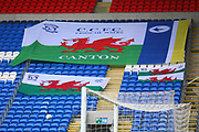 Welsh flags during the EFL Sky Bet Championship match between Cardiff City and Burton Albion at the Cardiff City Stadium, Cardiff, Wales on 30 March 2018. Picture by John Potts.