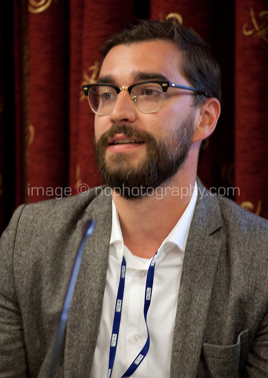 Gabor Pertic, Hot Docs Film Festival, at the Meet the Festivals Panel discussion at the Galway Film Fleadh, Galway Rowing Club, Galway, Ireland. Saturday 14th July 2018