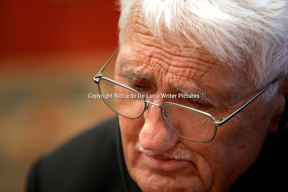 German philosopher and sociologist Jurgen Habermas<br /> <br /> copyright Riccardo De Luca/Writer Pictures<br /> contact  +44(0)20 8241 0039<br /> info@writerpictures.com<br /> www.writerpictures.com