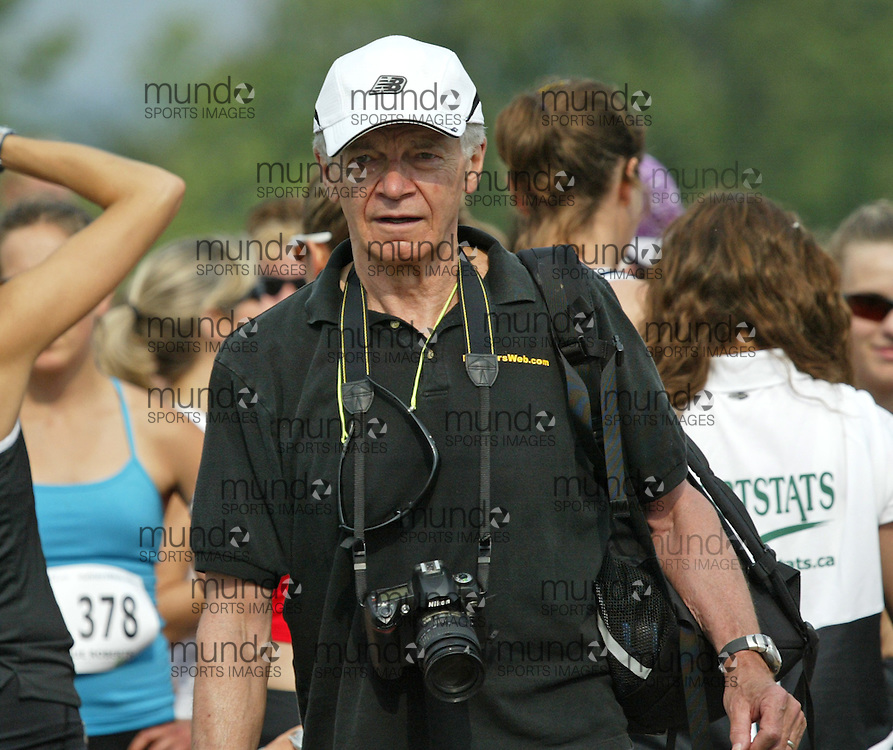 (Ottawa, Canada---19 June 2010) Standout Ottawa area running coach Ray Parker at the start line of the 2010 edition of Emilie's Run - The Emilie Mondor Memorial 5K Race for Women. Photograph copyright Sean Burges / Mundo Sport Images, 2010.