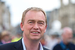 © Licensed to London News Pictures. 31/05/2017. Cambridge, UK. Leader of the Liberal Democrats TIM FARRON arrives at Senate House in Cambridge ahead of the BBC General Election Debate. Photo credit: Rob Pinney/LNP