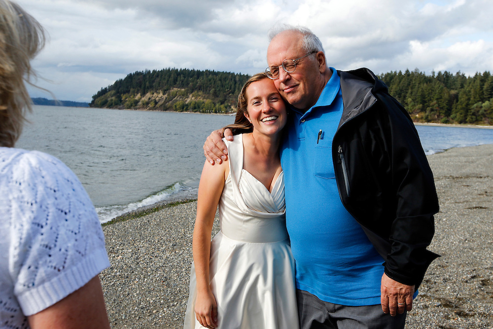 Wedding of Annie Bauer and Ken Ferrier at Camp Colman in Longbranch, Wash.