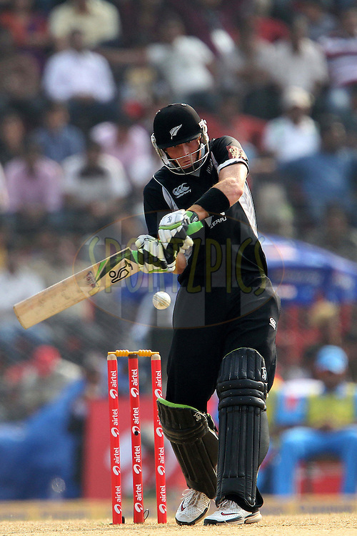 Martin Guptill of New Zealand  during the 1st ODI (One Day International ) between India and New Zealand held at the Nehru Cricket Stadium in Guwahati, Assam, India on the 28th  November 2010..Photo by Ron Gaunt/BCCI/SPORTZPICS