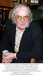 PROF.COLIN PILLINGER of the Beagle 2 space project, at a lunch in London on 2nd March 2004.PSC 10