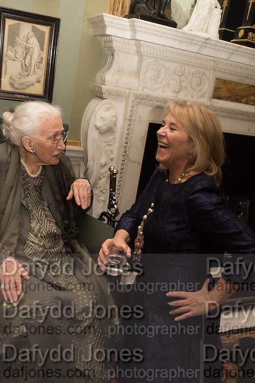 DRU HEINZ; HON HANNAH ROTHSCHILD, Everyman 25th Anniversary party, Spencer House. St. James' Place. London. SW1. 26 October 2016
