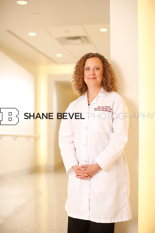 5/28/15 4:23:31 PM -- Dr. Renee Frenier of Saint Francis Health System poses for a portrait for the 2015 Advertising Campaign. <br /> <br /> Photo by Shane Bevel
