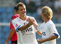 15.08.2004, Jubel nach dem1:0, v.l.  Vratislav Lokvenc, Christoph Preu§ Bochum<br /> Bundesliga VfL Bochum - Bayer 04 Leverkusen