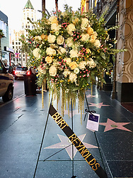 Burt Reynolds Hollywood Star with Flowers. 06 Sep 2018 Pictured: Burt Reynolds. Photo credit: APEX / MEGA TheMegaAgency.com +1 888 505 6342