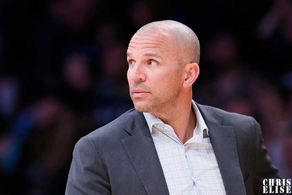 27 February 2015: Milwaukee Bucks head coach Jason Kidd is seen during the Los Angeles Lakers 101-93 victory over the Milwaukee Bucks, at the Staples Center, Los Angeles, California, USA.