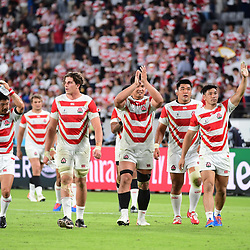 Japan on a lap opf honour after winning  the Rugby World Cup 2019 Group A match between Japan and Russia on September 20, 2019 in Tokyo, Japan. (Photo by Dave Winter/Icon Sport) - --- - Ajinomoto Stadium - Chofu (Japon)