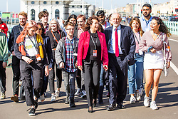 © Licensed to London News Pictures. 21/09/2019. Brighton, UK. Labour Party Leader JEREMY CORBYN arrives for the 2019 Labour Party Conference in Brighton. Photo credit: Hugo Michiels/LNP