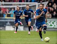 FODBOLD: Matheus Leiria (FC Helsingør) fører bolden frem under kampen i ALKA Superligaen mellem AaB og FC Helsingør den 15. oktober 2017 på Aalborg Stadion. Foto: Claus Birch