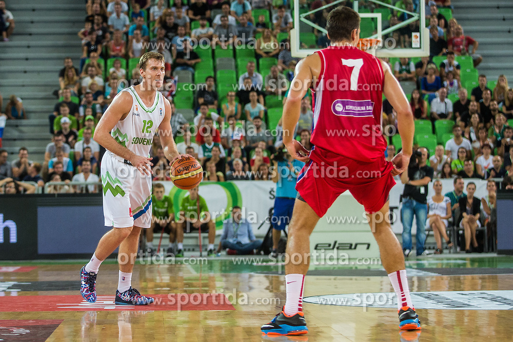 Zoran Dragic of Slovenia during friendly basketball match between National teams of Slovenia and Serbia in arena Stozice, on August 23 in Ljubljana, Slovenia. Photo by Grega Valancic / Sportida August 27, 2015