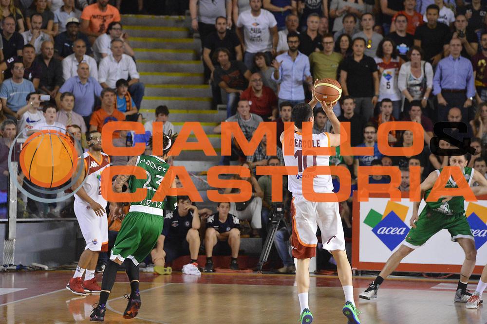 DESCRIZIONE : Roma Lega A 2012-2013 Acea Roma Montepaschi Siena  playoff finale gara 2<br /> GIOCATORE : Lorenzo D'Ercole <br /> CATEGORIA : Tiro Three Points Controcampo<br /> SQUADRA : Acea Roma<br /> EVENTO : Campionato Lega A 2012-2013 playoff finale gara 2<br /> GARA : Acea Roma Montepaschi Siena <br /> DATA : 13/06/2013<br /> SPORT : Pallacanestro <br /> AUTORE : Agenzia Ciamillo-Castoria/GiulioCiamillo<br /> Galleria : Lega Basket A 2012-2013  <br /> Fotonotizia : Roma Lega A 2012-2013 Acea Roma Montepaschi Siena  playoff finale gara 2