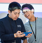 Area middle school students participate in an ECOBOT drone challenge at Space Center Houston, May 17, 2019.