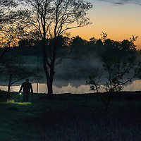 Looking for frogs in the night.<br /> Location: Frihult, Skåne, Sweden