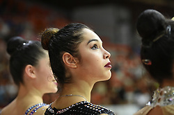July 28, 2018 - Chieti, Abruzzo, Italy - Rhythmic gymnast Alexandra Agiurgiucukese of Italy during the Rhythmic Gymnastics pre World Championship Italy-Ukraine-Germany at Palatricalle on 29th of July 2018 in Chieti Italy. (Credit Image: © Franco Romano/NurPhoto via ZUMA Press)