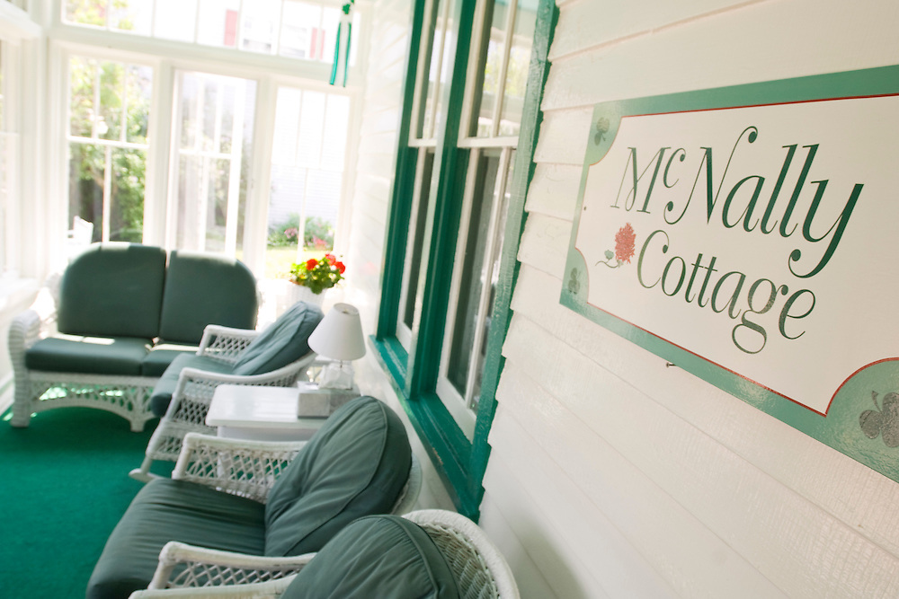 The McNally Cottage bed and breakfast on Mackinac Island Michigan.