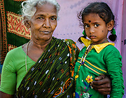 Grandmother with child, Streets of Chennai