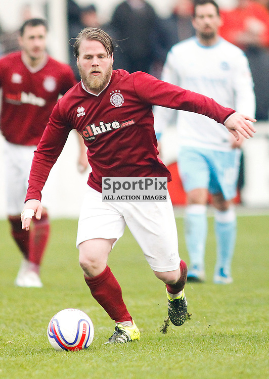 Graham Weir<br /> in action for Linlithgow Rose who made history when they became the first junior club to reach the Scottish Cup 5th round when they beat Forfar Athletic 1-0 on 26th January 2016<br /> (c) Andrew West | SportPix.org.uk