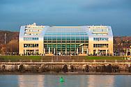 Europe, Germany, North Rhine-Westphalia, Bonn, the Hotel Kameha Grand at the Bonner Bogen at the river Rhine.<br /> <br /> Europa, Deutschland, Nordrhein-Westfalen, Bonn, das Hotel Kameha Grand im Bonner Bogen am Rhein.