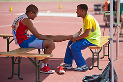 Behind the scenes, HERRERA Oscar, VEN, Triple Jump, T11, 2013 IPC Athletics World Championships, Lyon, France