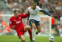 Photo: Aidan Ellis.<br /> Liverpool v West Ham Utd. The Barclays Premiership.<br /> 29/10/2005.<br /> Liverpool's Jamie Carragher tackles West Ham's David Bellion