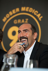 07.09.2011, Sparkassen Center, Graz, AUT, EBEL, 99ers Pressekonferenz, im Bild Mario Richer (99ers Headcoach) // during a 99ers Press-Conference, Sparkassen Center, Graz, Austria, 2011-09-07, EXPA Pictures © 2011, PhotoCredit: EXPA/ E. Scheriau