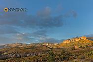 Cimarron Ridge in days last light in the Uncompahgre National Forest, Colorado, USA