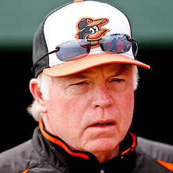 Mar 3, 2013; Sarasota, FL, USA; Baltimore Orioles manager Buck Showalter (26) before a spring training game against the Philadelphia Phillies at Ed Smith Stadium. Mandatory Credit: Derick E. Hingle-USA TODAY Sports