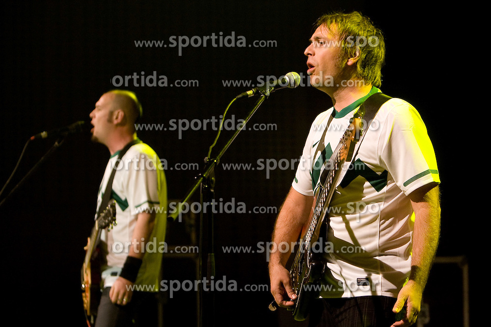 Tomi Meglic and Jani Hace of Siddharta music group at official presentation of Slovenian National Football team for World Cup 2010 South Africa, on May 21, 2010 in Congress Center Brdo at Kranj, Slovenia. (Photo by Vid Ponikvar / Sportida)