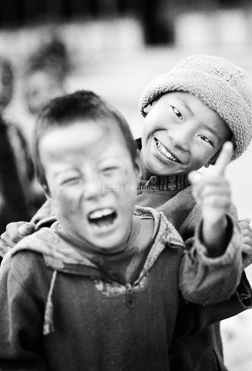 Tibetan nomad population in exile in Ladakh, northern India. Children are sent to boarding school, but they usually go back to work with family pretty early (8 or 9 years old).