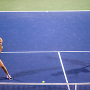 August 22, 2016, New Haven, Connecticut: <br /> Timea Babos of Hungary and Yaroslava Shvedova of Kazakhstan in action during a match a match on Day 4 of the 2016 Connecticut Open at the Yale University Tennis Center on Monday August  22, 2016 in New Haven, Connecticut. <br /> (Photo by Billie Weiss/Connecticut Open)