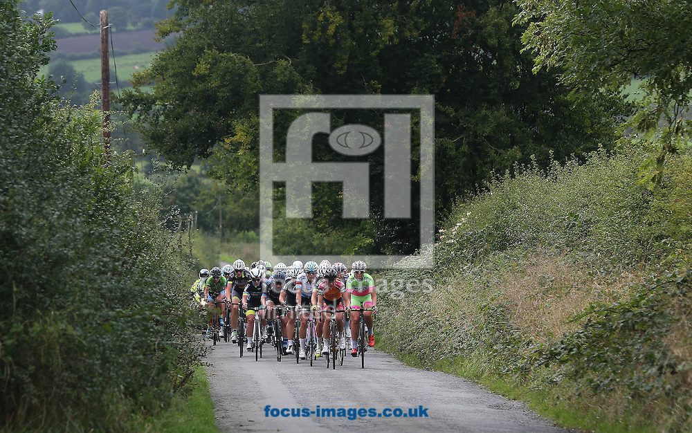 The peleton on the road to Castlecomer during todays stage Ras na mBan at Castlecomer, Co.Kilkenny, Ireland<br /> Picture by Lorraine O'Sullivan/Focus Images Ltd +353 872341584<br /> 08/09/2016