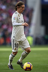 February 9, 2019 - Madrid, Madrid, Spain - Luka Modric of Real Madrid during the week 23 of La Liga between Atletico Madrid and Real Madrid at Wanda Metropolitano stadium on February 09 2019, in Madrid, Spain. (Credit Image: © Jose Breton/NurPhoto via ZUMA Press)