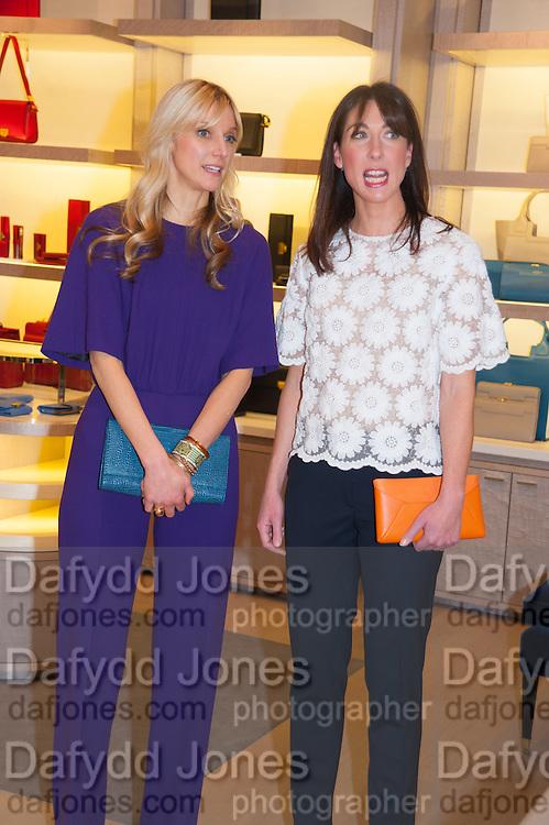 CALGARY AVANSINO; SAMANTHA CAMERON, Smythson Sloane St. Store opening. London. 6 February 2012.