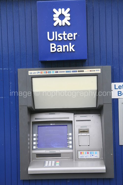 An ATM machine at Dalkey branch of Ulster Bank in Dublin Ireland is out of service as Ulster Bank branches across Ireland have extended their opening hours today as the bank attempts to clear a backlog in payments after issues with a technical fault last week. Monday 25th June 2012