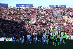 """Foto LaPresse/Filippo Rubin<br /> 24/02/2019 Bologna (Italia)<br /> Sport Calcio<br /> Bologna - Juventus - Campionato di calcio Serie A 2018/2019 - Stadio """"Renato Dall'Ara""""<br /> Nella foto: I TIFOSI DEL BOLOGNA<br /> <br /> Photo LaPresse/Filippo Rubin<br /> February 24, 2019 Bologna (Italy)<br /> Sport Soccer<br /> Bologna vs Juventus - Italian Football Championship League A 2018/2019 - """"Renato Dall'Ara"""" Stadium <br /> In the pic: BOLOGNA SUPPORTERS"""