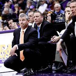 December 10, 2011; Baton Rouge, LA; Boise State Broncos head coach Leon Rice against the LSU Tigers during the second half of a game at the Pete Maravich Assembly Center. LSU defeated Bosie State 64-45. Mandatory Credit: Derick E. Hingle-US PRESSWIRE
