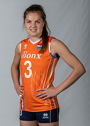 10-05-2018 NED: Team shoot Dutch volleyball team women, Arnhem<br /> Yvon Belien #3 of Netherlands