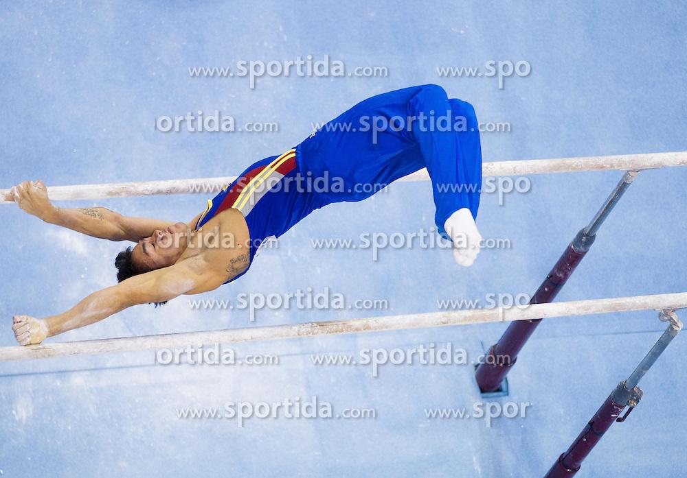 Jossimar Olando Calvo Moreno of Columbia competes in the Parallel Bars during Final day 2 of Artistic Gymnastics World Cup Ljubljana, on April 27, 2013, in Hala Tivoli, Ljubljana, Slovenia. (Photo By Vid Ponikvar / Sportida.com)